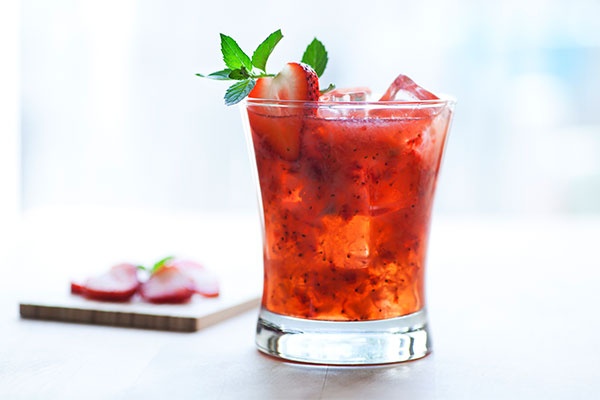 red berry summer cocktail
