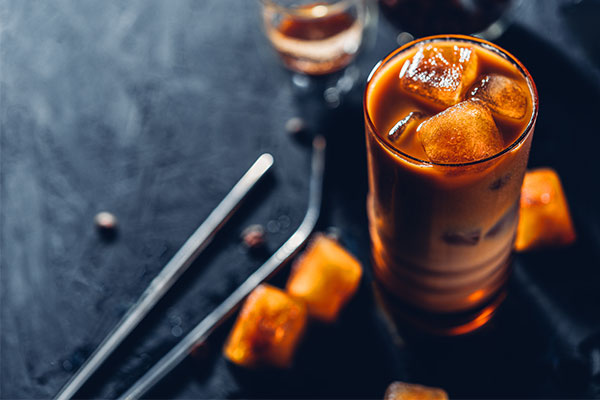 chilled caramel beverage