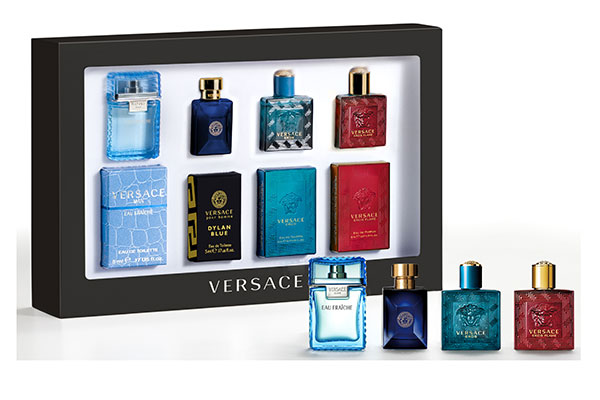 Versace fragrance miniatures for him set