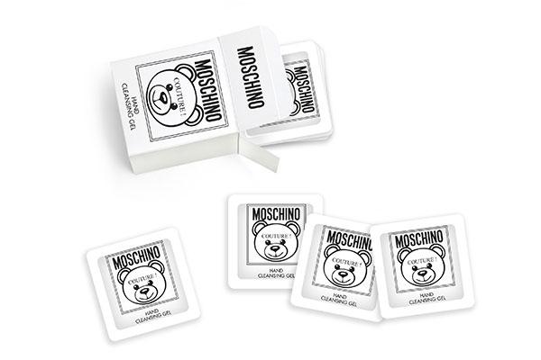 Moschino hand sanitizing kit