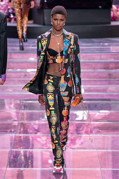 Versace fashion look