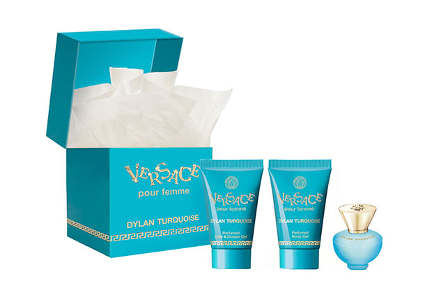 Versace Dylan Turquoise fragrance discovery kit GWP