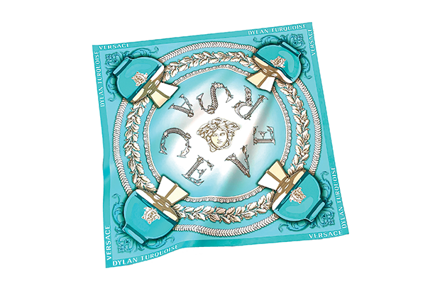 Versace Dylan Turquoise Silk Scarf GWP