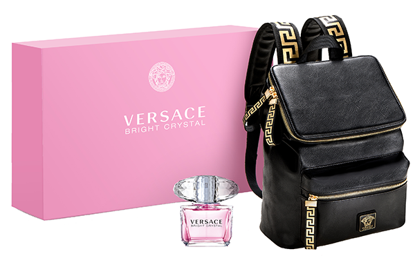 Purchase a large Versace Bright Crystal at Hudson's Bay and this designer backpack is yours for free