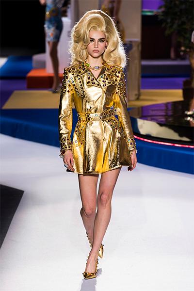 Moschino runway fashion look