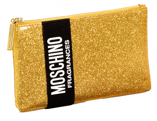 Moschino Fragrance Gold Glitter Collector Pouch